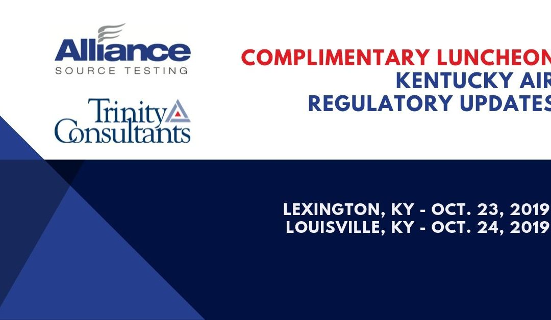 Complimentary Luncheon – KY Air Regulatory Updates with AST and Trinity Consultants